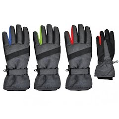 Grand Sierra Boy's Heathered Taslon Ski Glove - Size 4-7 Image