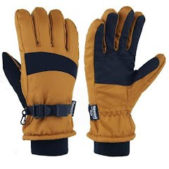 Grand Sierra Men's Workwear Brown Oxford Ski Gloves Image