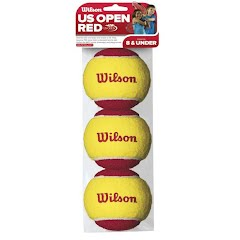 Wilson Sporting Goods US Open Red Stage 3pk Tennis Ball Image