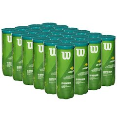 Wilson Sporting Goods US Open Green Tournament Transition Tennis Balls - 24 Cans (72 Balls) Image