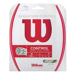 Wilson Sporting Goods Sensation Control Tennis String Set - Natural, 16 GA (1.30mm) Image
