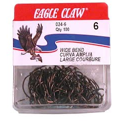 Eagle Claw Wide Bend Hooks (Qty 100) Image