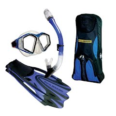 Us Divers Adult Potpourri Silicone Mask, Snorkel and Fins Set Image