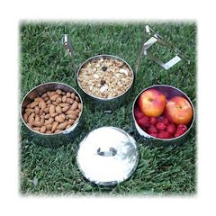Grand Trunk Zebra Stainless Steel Food Carriers (14cm x 3 Tier) Image