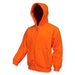 Trail Crest Men's Double Fleece Full Zip Blaze Hoody Image