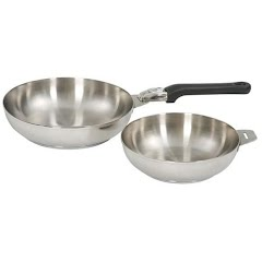Stansport Stainless Steel 2 Piece Fry Pan Set Image