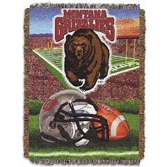 Northwest Co. U of M Griz Home Field Advantage Woven Tapestry Throw Blanket Image