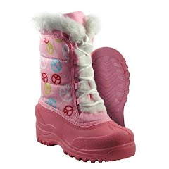 Itasca Girls Youth Pink Peace Winter Boots Image