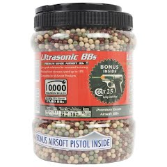 Palco 10,000 Count Camo Jar Ammo with Bonus Colt 25 Clear Spring Pistol Image