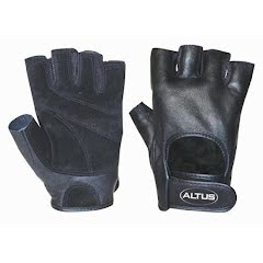 Altus Men`s Classic Leather Power Lifting Gloves Image