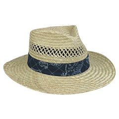 Outdoor Cap Nautical Straw Hat (Assorted Band Colors) Image