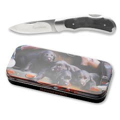 Browning Lab Puppy Knife and Tin Image