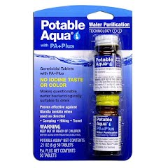 Potable Aqua Water Purification Tablets with P.A. Plus Image