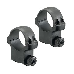 Ruger M77 1 Inch High Scope Rings with Hawkeye Matte Blued Finish Image