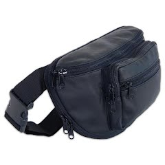 Sportsman Edge Large Leather Fanny Pack with Holster Image