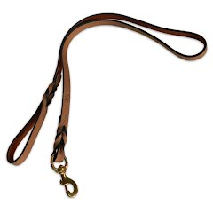 Browning Crazy Horse Genuine Leather Dog Lead Image