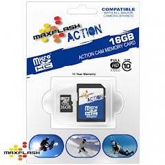Maxflash 16 GB Maxflash Action Micro SD HC Card, Class 10 Image