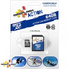 Maxflash 64 GB Maxflash Action Micro SD HC Card, Class 10 Image