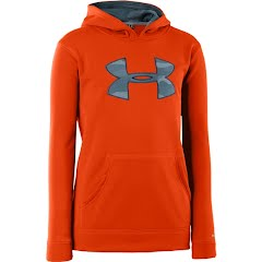 Under Armour Boy's Youth Armour Fleece Storm Big Logo Hoodie Image