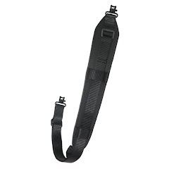 Outdoor Connection Original Padded Super-Sling Black with Talon Swivels Image