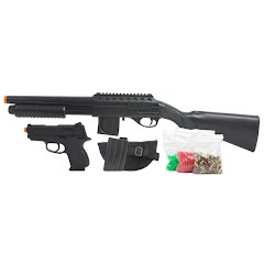 Evike Mossberg Tactical Full Stock Shotgun and Pistol Airsoft Kit Image