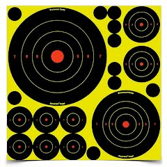 Birchwood Casey Shoot.N.C 1, 2, 3, 6 and  8 in. Bull's-eye Target (50 Pack) Image