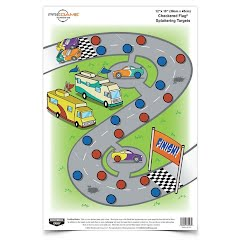 Birchwood Casey PreGame 12 x 18 in, Checkered Flag Target Image