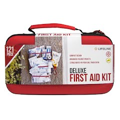 Lifeline 121 Piece Deluxe First Aid Kit Image
