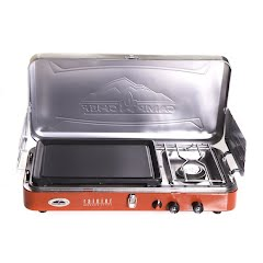 Camp Chef Rainier Two-Burner Stove with Griddle Image