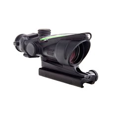 Trijicon ACOG 4x32 Scope, Dual Illuminated Green Chevron .223 Ballistic Reticle w/ TA51 Image