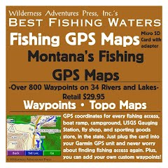 Wilderness Adventure Press Montana's Fishing GPS Maps Data Card Image