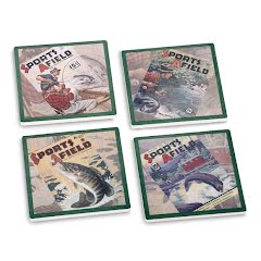 Big Sky Carvers Sports Afield Fishing Coasters (Set of 4) Image