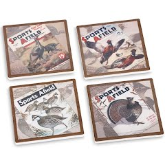 Big Sky Carvers Sports Afield Upland Bird Coasters (Set of 4) Image