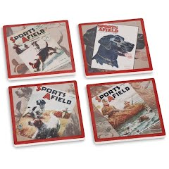 Big Sky Carvers Sports Afield Sporting Dog Coasters (Set of 4) Image