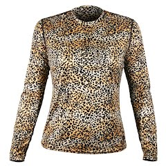 Hot Chillys Women`s Peachskin Cheetah Crew Image