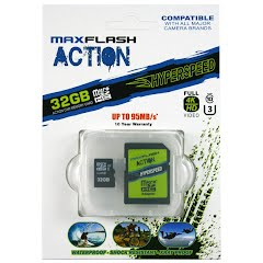 Maxflash Action 32GB Hyperspeed microSD Memory Card Image