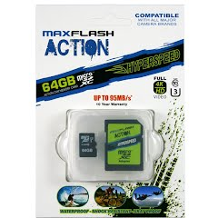 Maxflash Action 64GB Hyperspeed microSD Memory Card Image