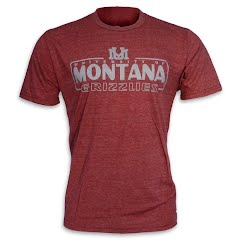 Blue 84 Mens University of Montana 'UM' Armguard Triblend S/S Tee
