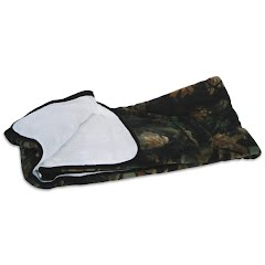 Trail Crest Reversible Soft Touch Fleece Camo Blanket Image