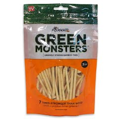 Charter Products Frogger Green Monster Bamboo 3 1/4-Inch Tees (50 Pack) Image