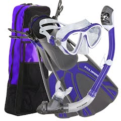Us Divers Women's Azul LX Mask + Tucson Snorkel + Tulum Fin Combo Image