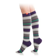 Vim And Vigr Women`s Nylon Fun Stripes Socks Image