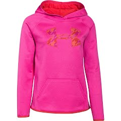 Under Armour Girl`s Youth Amour Fleece Big Logo Hoodie Image