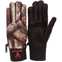 Huntworth Men's Fleece Camo Shooters Glove Image