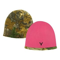 Hot Shot Youth Girls Acrylic Knit Reversible Beanie Image