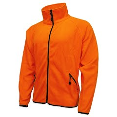 World Famous Blaze Orange Fleece Jacket Image