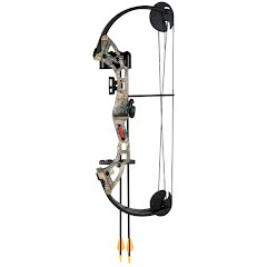 Fred Bear Archery Youth Warrior Bow with Whisker Biscuit Arrow Rest Image