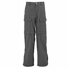 White Sierra Boy`s Youth Trail Convertible Pant Image