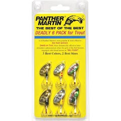 Panther Martin Best of the Best Deadly 6 Pack with Red Hook Kit Image