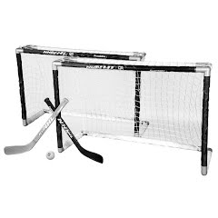 Franklin NHL Mini Hockey 2 Piece Goal Set Image